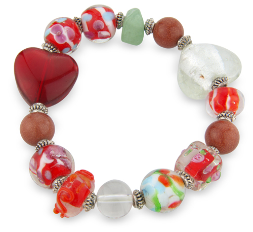 Cristallo_Floral_Heart_Bracelet