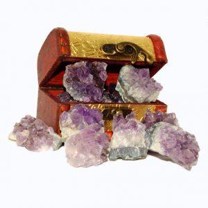crown chakra Healing Crystals, chakra crystals, crystal healing stones, crystal elixirs amethyst_treasure_chest_jurassic_jacks