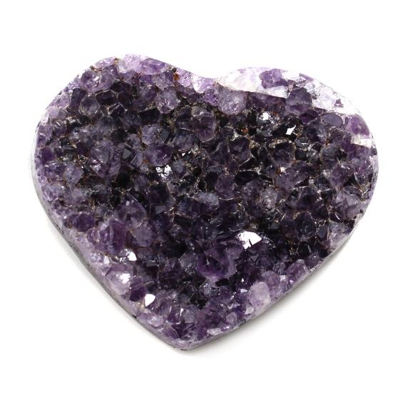 Amethyst crystal Druze Hearts