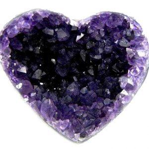 Amethyst Crystal Heart Druze