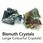 medium bismuth crystals