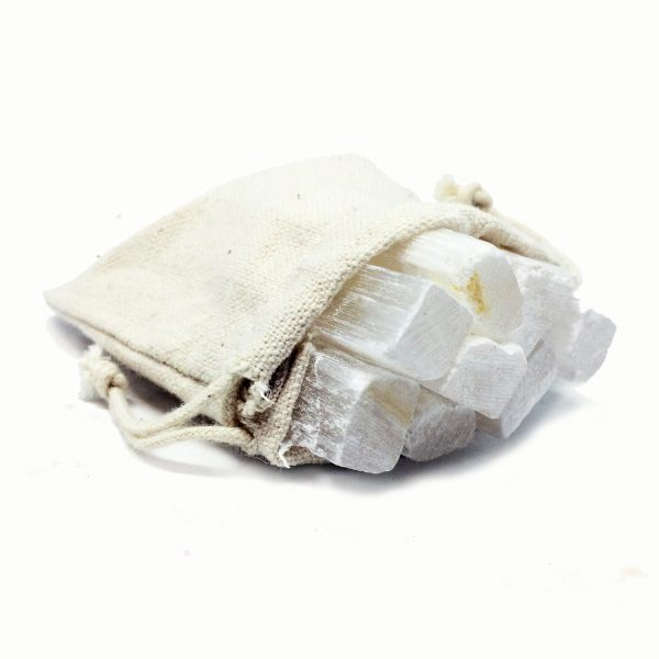 selenite sticks offer bag crystals