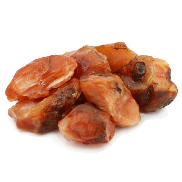 raw carnelian crystal tumbled stone