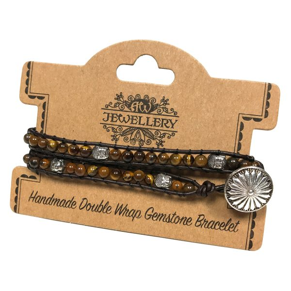 Buddha Tigers-Eye Double Bracelet