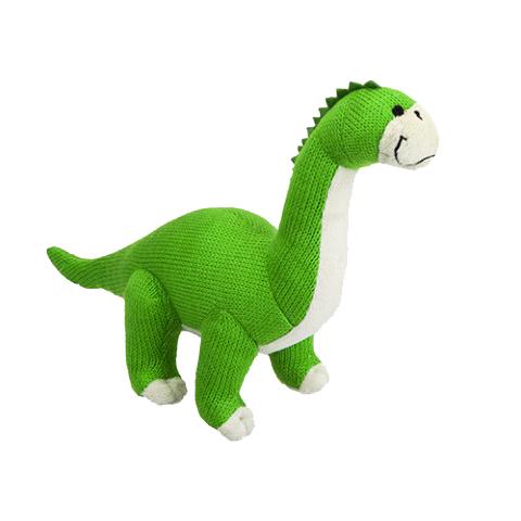 knitted dinosaur toy plush dinosaur diplodocus