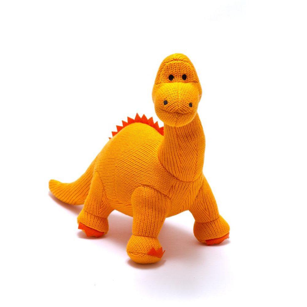 Orange Diplodocus Dinosaur Rattle