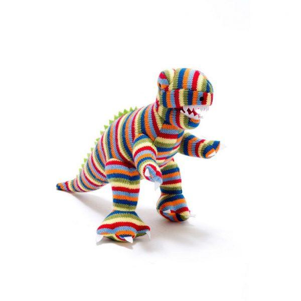 stripy t rex rattle