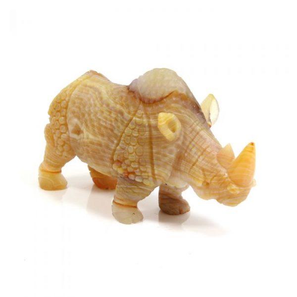 Carved Carnelian Gemstone Rhino