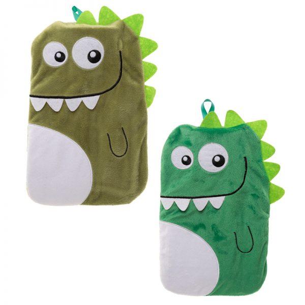 Dinosaur Hot Water Bottle Cover and Bottle