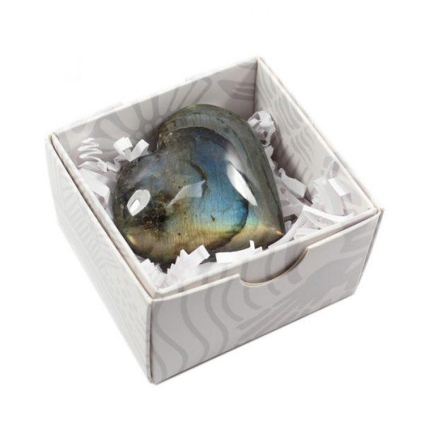 Labradorite Puff Heart