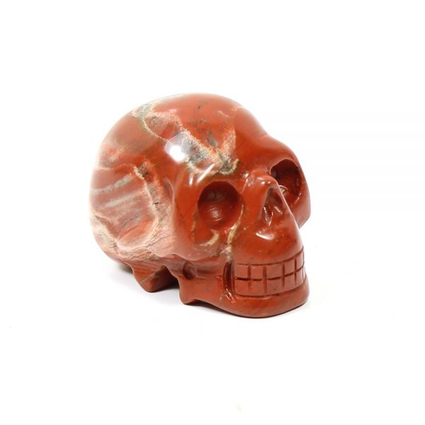 Red Jasper Gemstone Skull