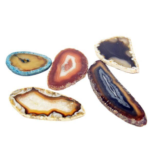 5 Agate Slices