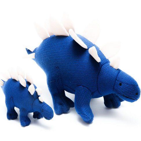 Blue Stegosaurus Dinosaur Rattle Toy