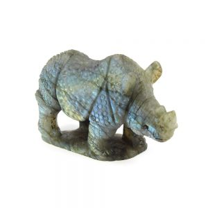 Carved Labradorite Rhino