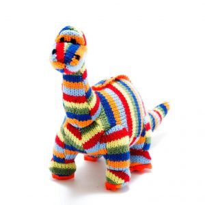 Stripy Diplodocus Dinosaur Rattle Toy