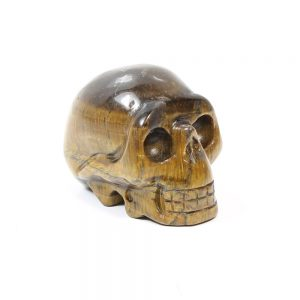 tigers eye Gemstone Skull-
