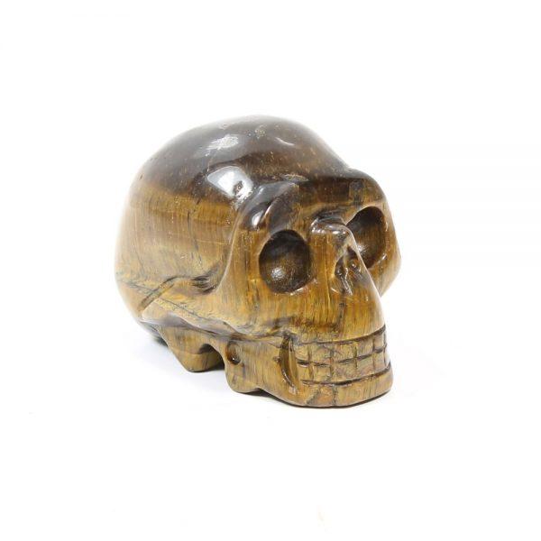tigers eye Gemstone Skull-