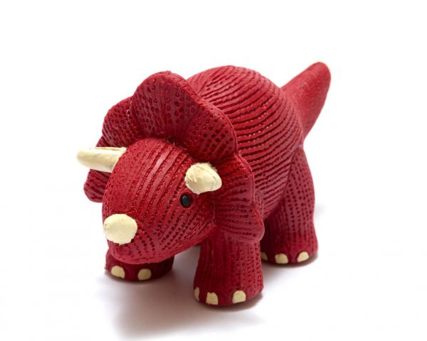 Triceratops Dinosaur Natural Rubber Toy