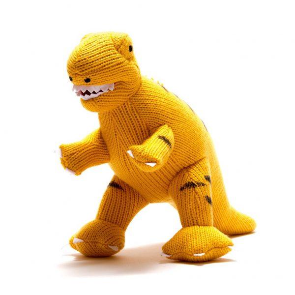 Yellow T Rex Dinosaur Soft Toy