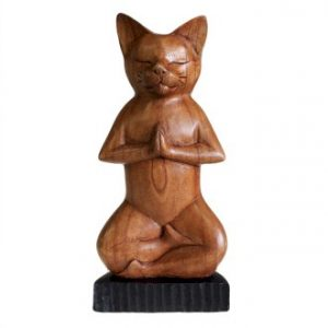 Yoga Cats - Lotus Position