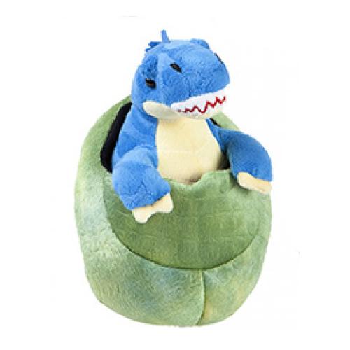 plush blue baby dinosaur_egg