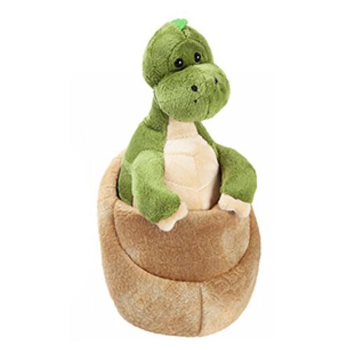 plush green baby dinosaur_egg