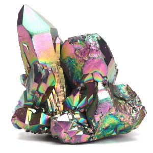 Rainbow Aura Quartz Crystal