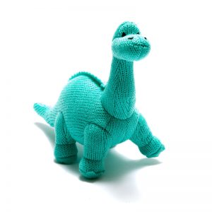 ice blue diplodocus toy rattle