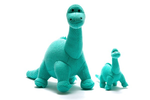 ice blue diplodocus toy rattles