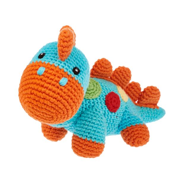 dinosaur toy steggi turquoise-orange jj