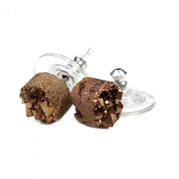 brown earstud